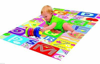 PLAY MAT 90cm x 90cm BABY TODDLER CHILDREN DOUBLE SIDED FOAM PADDED WITH CASE