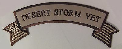 "Veterans Patch ""desert Storm Vet"" - Biker Rocker Vest Patch  Usa Military - Iraq"