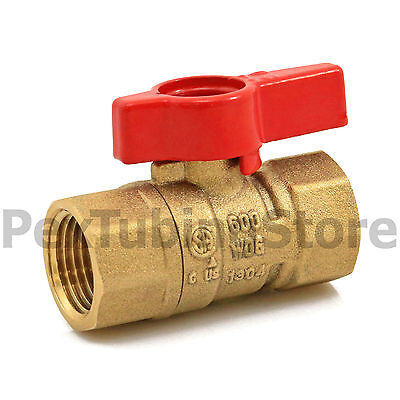 "1/2"" IPS Brass Gas Ball Valve - Natural Gas or Propane, CSA, Shut-Off Valves"