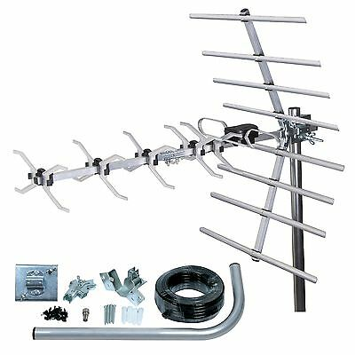 Philex Wideband Digital Tv Aerial And Install Kit, Freeview Hd Loft Or Roof