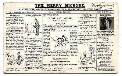 Post Card.the Merry Microbe.a Miniature Montly Magazine On A Penny Picture.