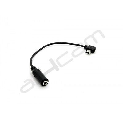 Mini USB to 3.5mm Jack Microphone Adapter fits GoPRO HERO 3