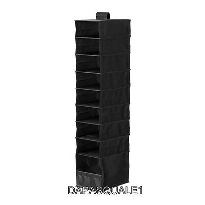 IKEA SKUBB - Closet Hanging Organizer With 9 Compartments Black