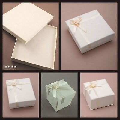 Ivory Cream Jewellery Gift Boxes For Ring Earrings Bracelet Necklace Many Sizes