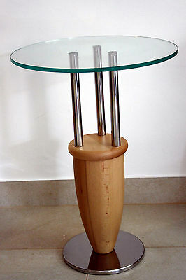 Raro Tavolino Antonio Design Marco Zanuso Memphis 1987 Side Table Faggio