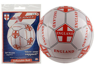 """21"""" ENGLAND WORLD CUP ST GEORGES'S INFLATABLE FOOTBALL"""