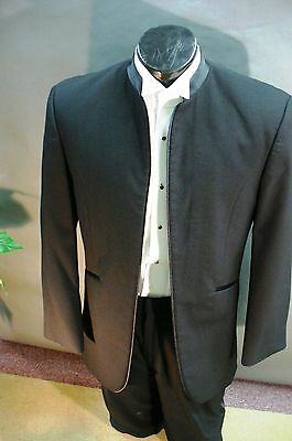 Black Mirage - No Buttons No Lapel  90041 Wool