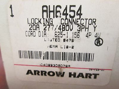 Arrow Hart Connector AH6454 20A 277/480V 3PH 4P 4W New Surplus