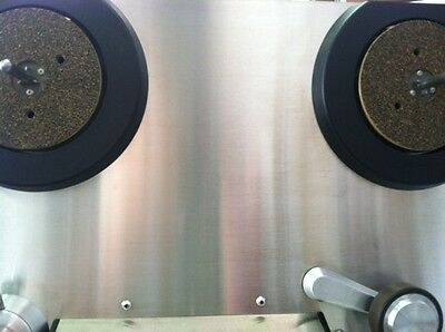 Ampex 440 studio recorder NEW stainless steel overlay for transport