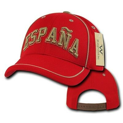 389b4339d28 Spain España Soccer Football Dri Cool Mesh World Cup Red Gold Baseball Hat  Cap
