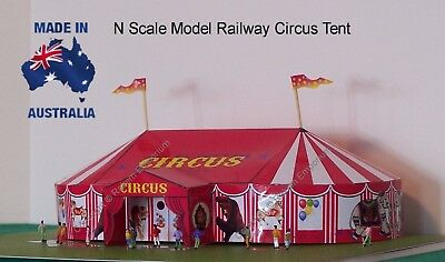 N Scale Circus Big Top Tent Model Railway Building Kit - NCBT