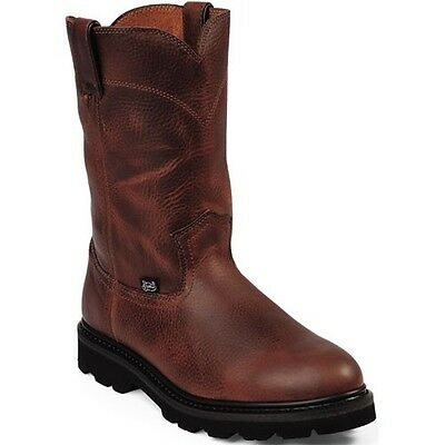 MENS JUSTIN COWBOY WESTERN/ WORK BOOTS STYLE WK4905-NEW IN BOX! FREE SHIPPING