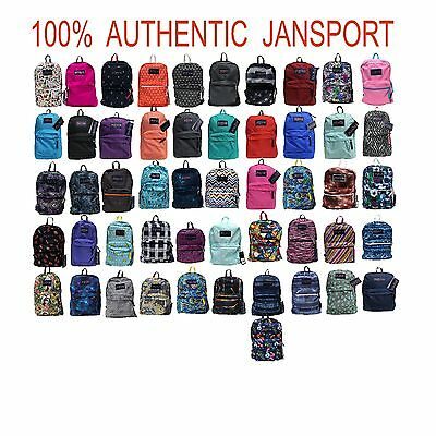 Jansport 100% Authentic Backpack School Multi-Colors
