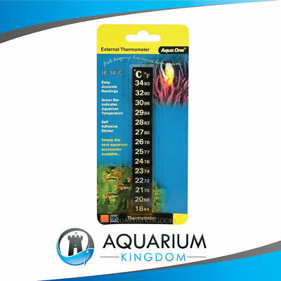 Check the temperature of your tank! Aqua One Sticker Thermometer. EASY to read!