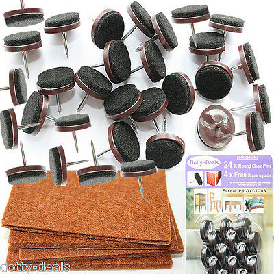 Wood Laminate Parquet Furniture Felt 24 Nail Protect FREE 4 Square Sticky Pads