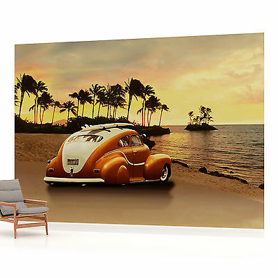 WALL MURAL PHOTO WALLPAPER PICTURE (57VE) VW Beetle Beach Sunset