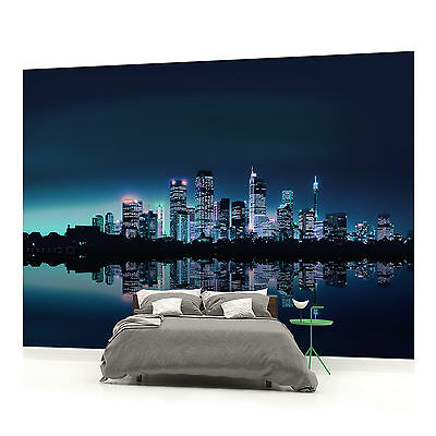 WALL MURAL PHOTO WALLPAPER PICTURE (51VE) Toronto City Lights Skyline