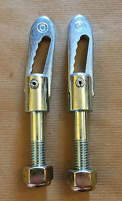 2 x Anti Luce M12 x 44mm Drop Catch ZP Tail Gate Fastener Trailer Horsebox Truck