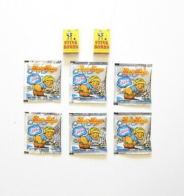 6 Stink Bombs Glass Vials & 6 Fart Bomb Bags   Nasty Gas Smell Odor  Gag Gift