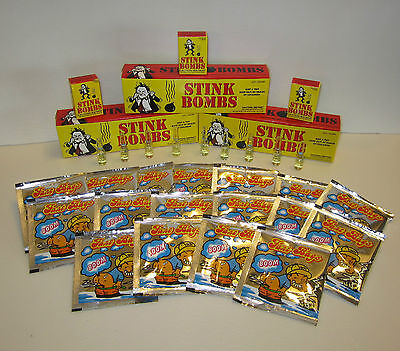36 Stink Bombs Glass Vials & 36 Fart Bomb Bags   Nasty Gas Smell Odor  Gag Gift