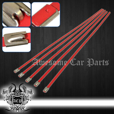 """12"""" 5Pcs Stainless Cable Zip Tie Straps Rd - Muffler Tail Pipe Piping Lock Wrap"""