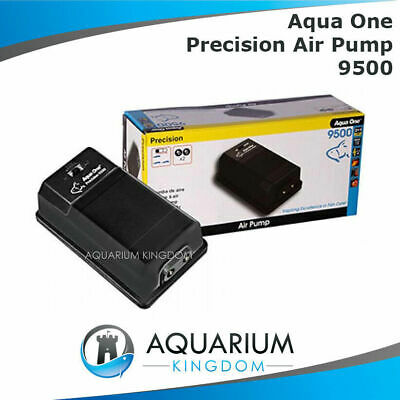 Aqua One Precision 9500 Air Pump - Hydroponics, Aquarium, Fish Tank Pond Aerator
