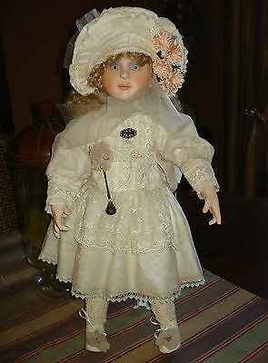 """Signed & Numbered Barbara Ota Bisque Victorian Vintage 24"""" Doll"""