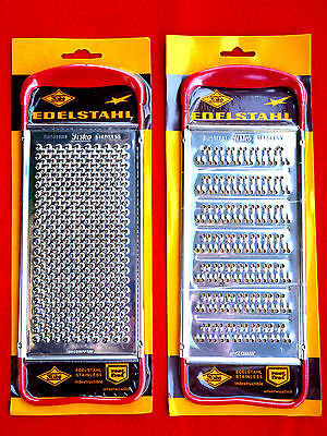 Pair Vintage 70s New Old Stock Stainless Steel Flat Cheese Graters Fisko Germany