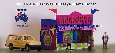 HO Scale Carnival Booth Bullseye 3D Model Railway Building Kit - REBE1
