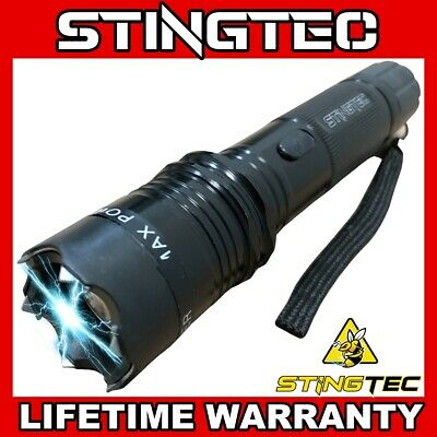 "13.5"" Metal MILITARY Stun Gun 350 Million Volt Rechargeable + LED Flashlight NEW"