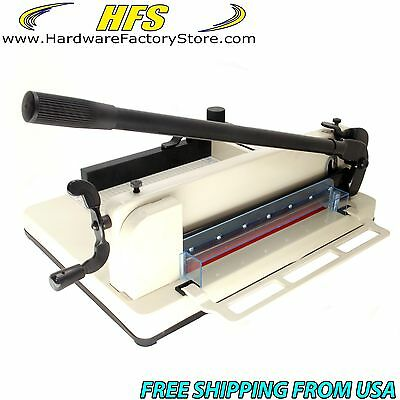 "HFS Heavy Duty Guillotine Paper Cutter 17"" Commercial Metal Base A3/A4 Trimmer"