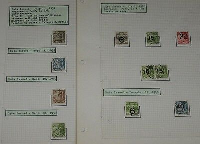 DENMARK CLASSIC COLLECTION - 1851/1940's, on 140+ annotated pages