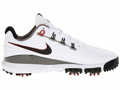 New Nike TW '14 2014 Tiger Woods White/Pewter/Red/Grey Golf Shoes -Pick Size
