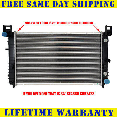 "RADIATOR For Chevy Fit Silverado Tahoe Sierra Yukon 28"" Core W/O EOC 2334"
