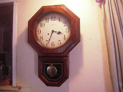 Vintage Verichron 31 Day Key Wind Pendulum Chiming Wall