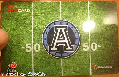 2014 Toronto Argonauts (FD41762) Tim Hortons gift card (no cash value)