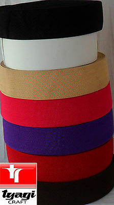1 inch (25mm) Wide Woven Elastic Waistband Dressmaking Strong Stretchable Tape