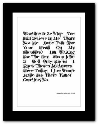 ❤ THE BEACH BOYS Pet Sounds ❤ typography poster art print - A3 A2 A1 A4