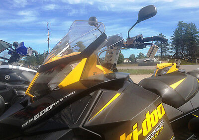 Rear view mirror set for Ski Doo line of Snowmobiles, Univ fit on handle bars