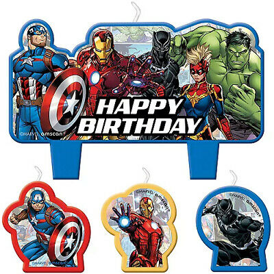 Avengers Birthday Party Supplies Candle Mini Moulded Pack Of 4