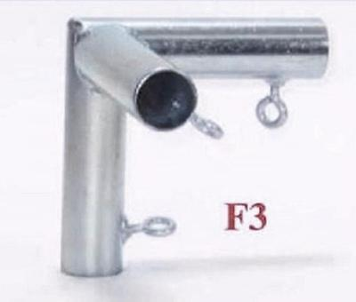 """3 way FLAT CORNER FITTING (F3) 3/4"""" Pipe ~ Canopy Parts"""