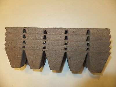 100 Cells Jiffy Strips peat pots -10 cells per strip - fills 2 seedling flats