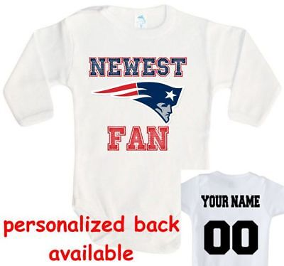 the latest b1af8 10dd0 BABY BODYSUIT NEWEST fan new England Patriots football One Piece jersey  personal