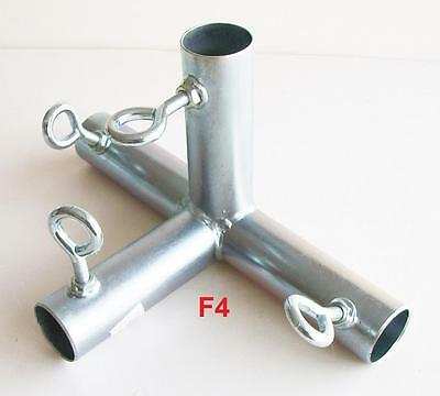 "4 way FLAT EDGE FITTING (F4A) ~ 3/4"" pipe Canopy Parts"