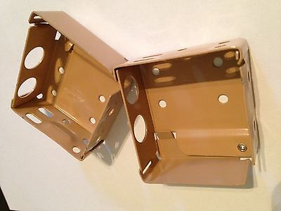 Pair Venetian Blind Box Brackets 44Mm X 44Mm  - Any Colour - Blind Spare Parts