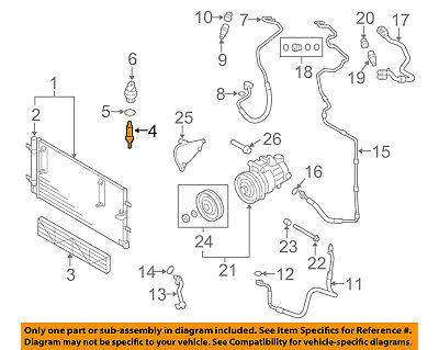 AUDI OEM AC A/C Air Conditioner-High Pressure Relief Valve 8A0820855AA