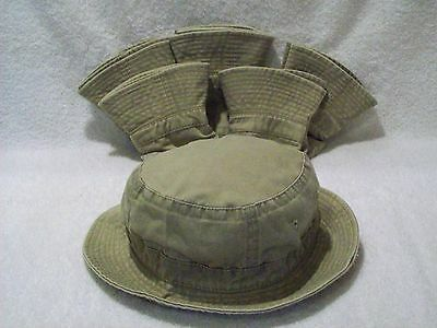 73d75d20105 New Lot Of 6 Pieces Washed Cotton Fishing Bucket Hat Cap Khaki Xlarge Xl  Suncap