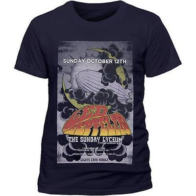 Led Zeppelin - The Sunday Lyceum Mens Cotton T-Shirt - New & Official In Bag