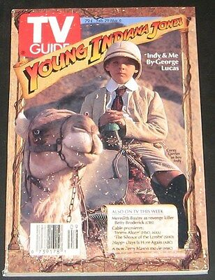 TV Guide February /  March 1992-Young Indiana Jones