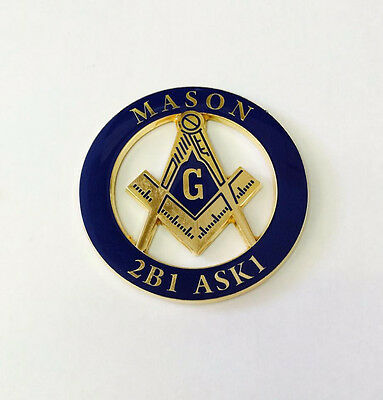 Masonic Car decal(2b1)